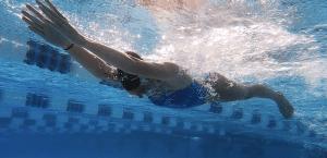 World class breaststroke swimmer